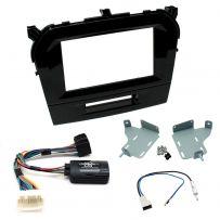 Suzuki Vitara Double Din Fascia Panel w/ Steering Control Car Stereo Fitting Kit