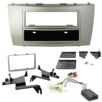 Double Din Fascia w/ Steering Controls Car Stereo Fitting Kit for Toyota Camry 2007-2010