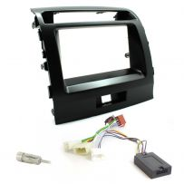 Double Din Fascia Steering Control Car Stereo Fitting Kit for Toyota Landcruiser 200