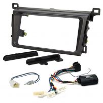 Double Din Fascia Steering Control Car Stereo Fitting Kit for Toyota RAV4 2013-2015