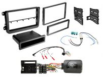 CTKVW22 Volkswagen Vehicles Matt Black Double/Single Din Car Stereo Fascia Complete Installation Fitting Kit