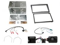 CTKVX32 Vauxhall Antara, Astra, Corsa,Zafira Dark Silver Double Din Car Stereo Fascia Complete InstallationFitting Kit