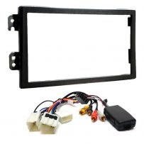Double Din Fascia Panel w/ Steering Controls Car Stereo Fitting Kit For Nissan 350z