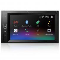 """DMH-A240BT Pioneer 6.2"""" Double Din Touch Screen Car Stereo Radio with Bluetooth, WebLink, USB & AUX"""