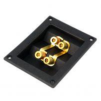 Double Speaker Subwoofer Box Enclosure Square Twin Dual Terminal Binding Post