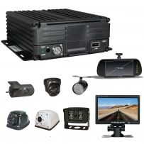 CCTV Security Camera In Car Taxi Van 4 Channel DVR Accident Recorder With 1TB Hard Drive