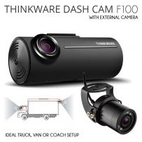 Thinkware F100 1080p Front & External Rear Dash Cam For Trucks Vans Bus Coach