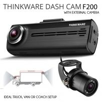 Thinkware F200 1080p Front & External Rear Dash Cam For Trucks Vans Bus Coach