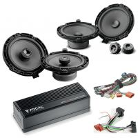 Focal Inside Peugeot, Vauxhall, Citroen Car Audio Upgrade 2 Way Component and Coaxial Speaker plus Amplifier Package