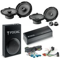 Focal Inside Peugeot, Vauxhall, Citroen Car Audio Upgrade 2 Way Component and Coaxial Speaker plus Amplifier and Subwoofer Package