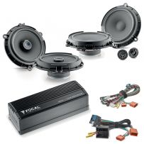 FOCAL INSIDE POWERED 6.0 Ford Car Audio Upgrade 2 Way Component and Coaxial Speaker plus Amplifier Package