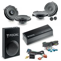 FOCAL INSIDE PREMIUM 6.1 Ford Car Audio Upgrade 2 Way Component and Coaxial Speaker plus Amplifier and Subwoofer Package