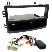 Single Din Fascia Panel Car Stereo Fitting Kit w/ Steering Controls For NISSAN 350Z