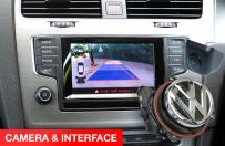 VW Badge Parking Camera Boot Handle Reversing Camera Interface Package for Golf 6, 7