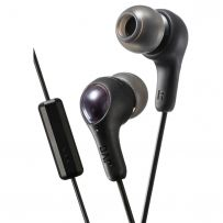 HAFX7MB JVC Gumy Plus In Ear Headphones with Mic & Remote - Black