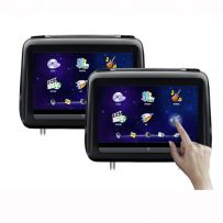 HD198THD 2 x 10.1'' HD Digital Screen Touch Screen Leather Cover Car Headrest DVD Player with HDMI Port