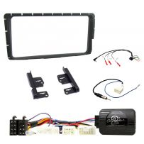 Fascia Double Din Fitting Kit & Steering Wheel Control for Toyota Hilux 2012 - 2015