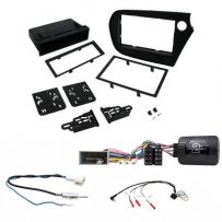 Honda Insight 2009 -2015 Single/Double Din Fascia with Steering Control and Antenna Adapter Kit