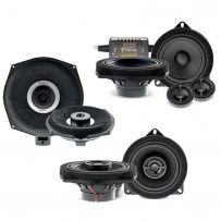 BMW  1, 2, 3, 4, 5, 6, 7, X1, X2, X3, X5, X6 X7, Z4 Car Audio upgrade System with 2 Way Component Kit, Coaxial Speaker and underseat Subwoofer