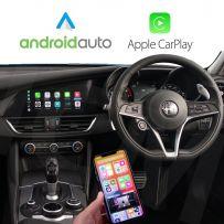 Wireless Apple CarPlay Android Auto for Alfa Romeo Gulia, Stelvio 2016 Onwards with Infotainment system (6.5 & 8.8