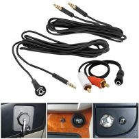 High Quality Dash Mount 3.5mm Audio Input Extension Kit Cable Aux to RCA Adaptor