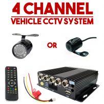 4x Cameras Vehicle CCTV DVR In Car Taxi Van Camera Security Monitoring System