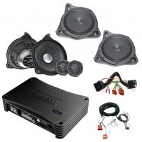 Mercedes Audio Upgrade Custom Package with Front Door Speakers, Kickwell / Footwell subwoofers and DSP Amplifier