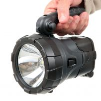 Omega Rechargeable Solar High Power LED Spotlight Torch Light Camping 12V AC