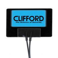 Clifford 620C G4 G5 Car Alarm & Security Blue Flashing 12V Window Sticker