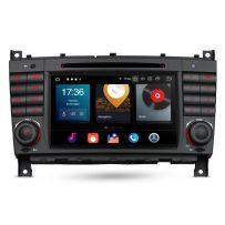 PBX70M209 Android 10 Car DVD Player 7'' Multimedia GPS System Custom Fit for Mercedes-Benz CLK-Class W209, C-Class W203, G-Class W463