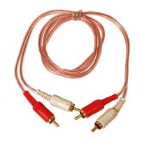 1 Metre RCA Car Stereo Amp Amplifier OFC RCA to RCA Phono Cable Lead
