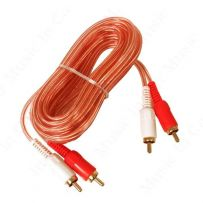 5 Metre RCA Cable Oxygen Free Clear OFC Car Stereo Amp Phono Lead