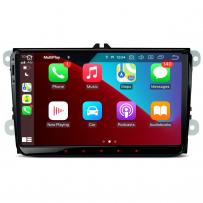 PQS90MTVL 9'' Android 10 Car Radio GPS Navigation Built-in CarPlay & Android Auto for VW/Skoda/Seat