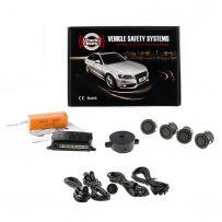 Front Parking Sensor Kit 4 Way 19mm , + 12v/24v (Matt Black)