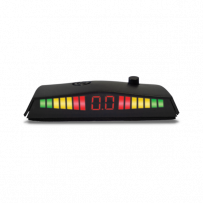 Slim LED Display With Distance Digits For Rear Parking Sensors