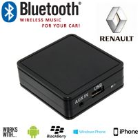 Renault In Car Bluetooth Music & Aux Interface Adaptor For iPhone & Android
