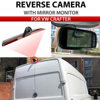 Reverse Brake Light Camera with 7 Inch OEM Slimline Mirror Monitor Package for Volkswagen Crafter 2017 - 2019