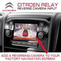 Citroen Relay 2014 Van Reverse Parking Back Up Camera Input Interface
