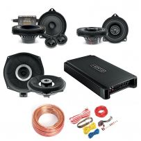 Focal BMW Car Audio Upgrade Speaker & Subwoofer Kit + 5ch Amplifier and Wiring Kit