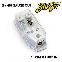 Stinger SHD820 MIDI ANL Fuse Holder Distribution - 0/4 Gauge in to 4/8 Gauge Out