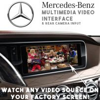 Mercedes S Class W221 Multimedia Video Interface With Rear Parking Camera Input