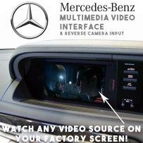 Mercedes S CL Class 2010-13 Multimedia Car Video Interface + Rear Camera Input
