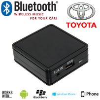 Bluetooth Car Music Aux In Interface Adaptor For SmartPhones for Toyota 1998 - 2003