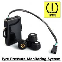 Wireless Tyre Pressure Monitoring System For Android Stereos Includes 4 Sensors