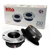 Boss Audio 250w Quality Bullet Tweeter Speaker Flush Mount Car Tweeters