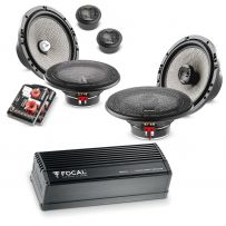 Focal Audio Upgrade Package with 2-way Components & Coaxial Speakers Kit and 4 Channel Digital Amplifier