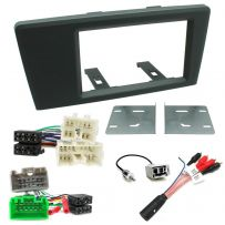 Volvo S60 V70 XC70 Double Din Fascia ISO Car Stereo Fitting Kit Amplifier Bypass