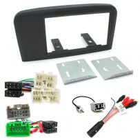 Volvo S80 Double Din Fascia ISO Wiring Car Stereo Fitting Kit w/ Amp Bypass Lead