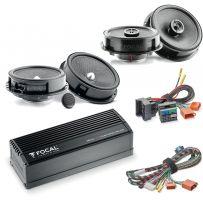 Focal Inside Volkswagen Car Audio Upgrade 2 Way Component and Coaxial Speaker plus Amplifier Package