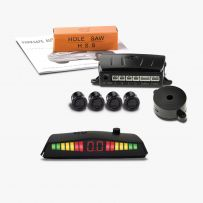 Rear Parking Sensor Kit 4 Way 19mm  + Towbar Detection  and PS62 Display - 12v/24v